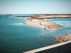 Fishing along the coastal inlet on Mustang Island #jcutrer