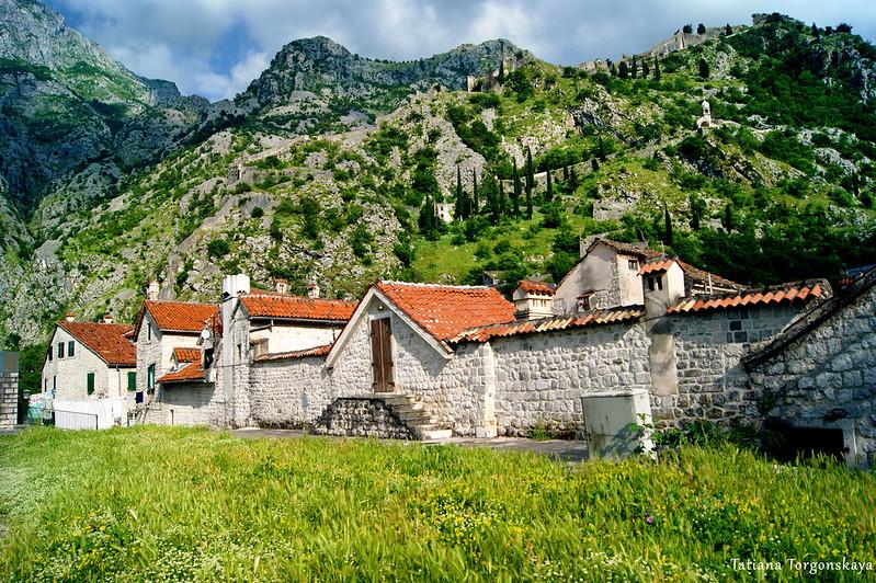 Верхние уровни домов, вид с крепостных стен
