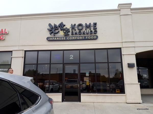Kome Shokudo Japanese Comfort Food storefront