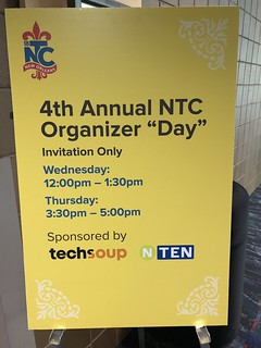 Organizer Day signage at 18NTC