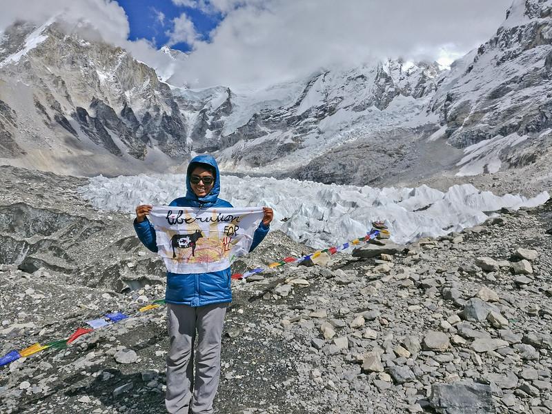 Anu at Everest-based camp