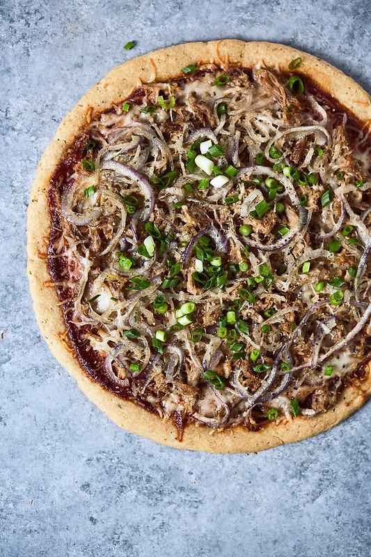 BBQ Kalua Pork Hawaiian Pizza {grain-free, gluten-free with paleo and keto options}
