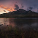Sunset on Pyramid Lake, Jasper National Park,Canadian Rocky Mountains Alberta, Canada. by Daniel Viñe fotografia