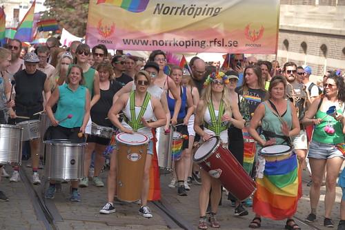 Emilie Höijer längst fram i East Pridetåget