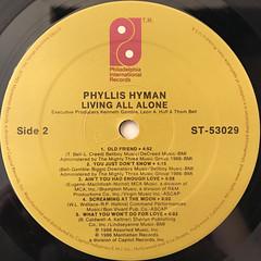 PHYLLIS HYMAN:LIVING ALL ALONE(LABEL SIDE-B)