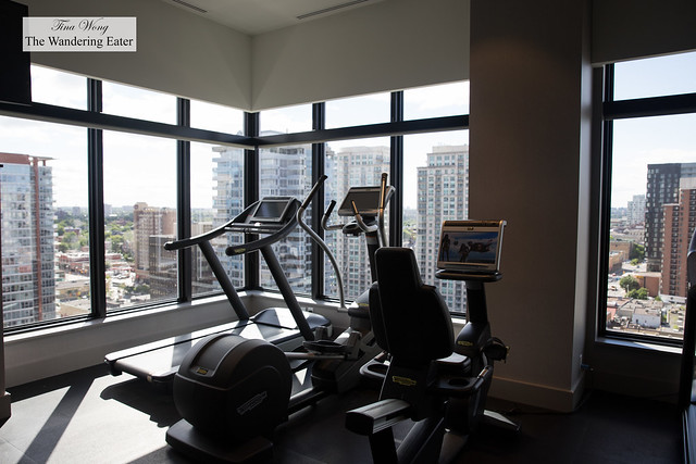 Exercise Room with views of Ottawa