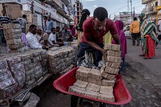 Somaliland wheelbarrow of cash