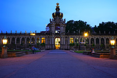 Dresden at the blue hour. Kronentor, Zwinger