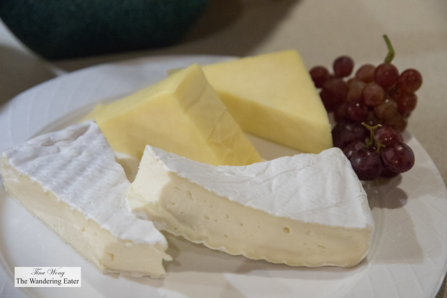 Brie and another cheese at the breakfast buffet