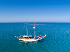 Sailing ship in Cyprus
