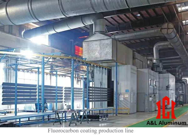 Fluorocarbon coating production line of aluminum profiles