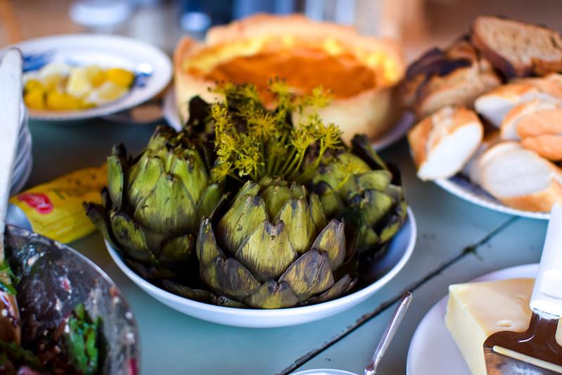 Vegetarisk kräftskiva kronärtskocka