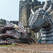 Caerphilly castle dragons