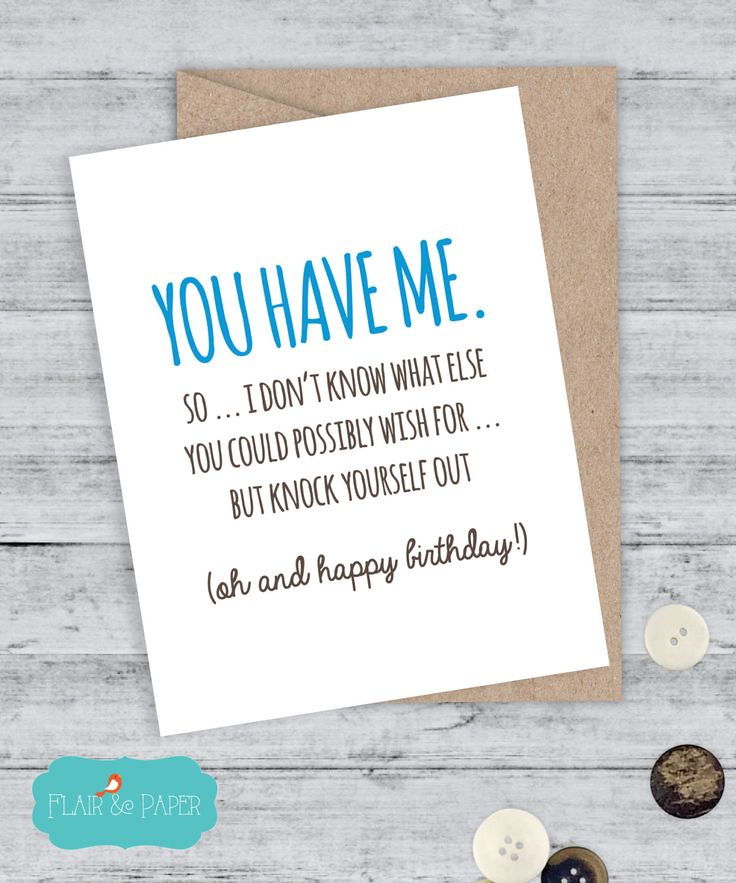 Birthday Quotes Card Boyfriend Funny I Love You Sorry