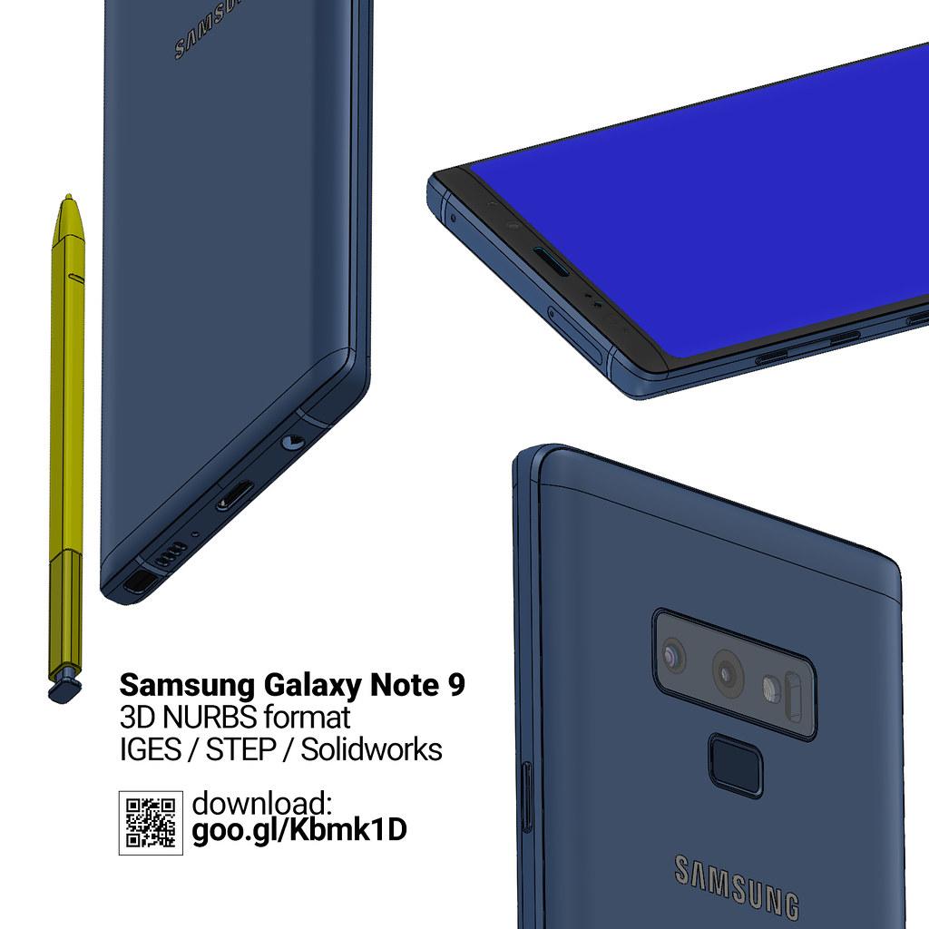 Galaxy Note 9 - 3D NURBS CAD files