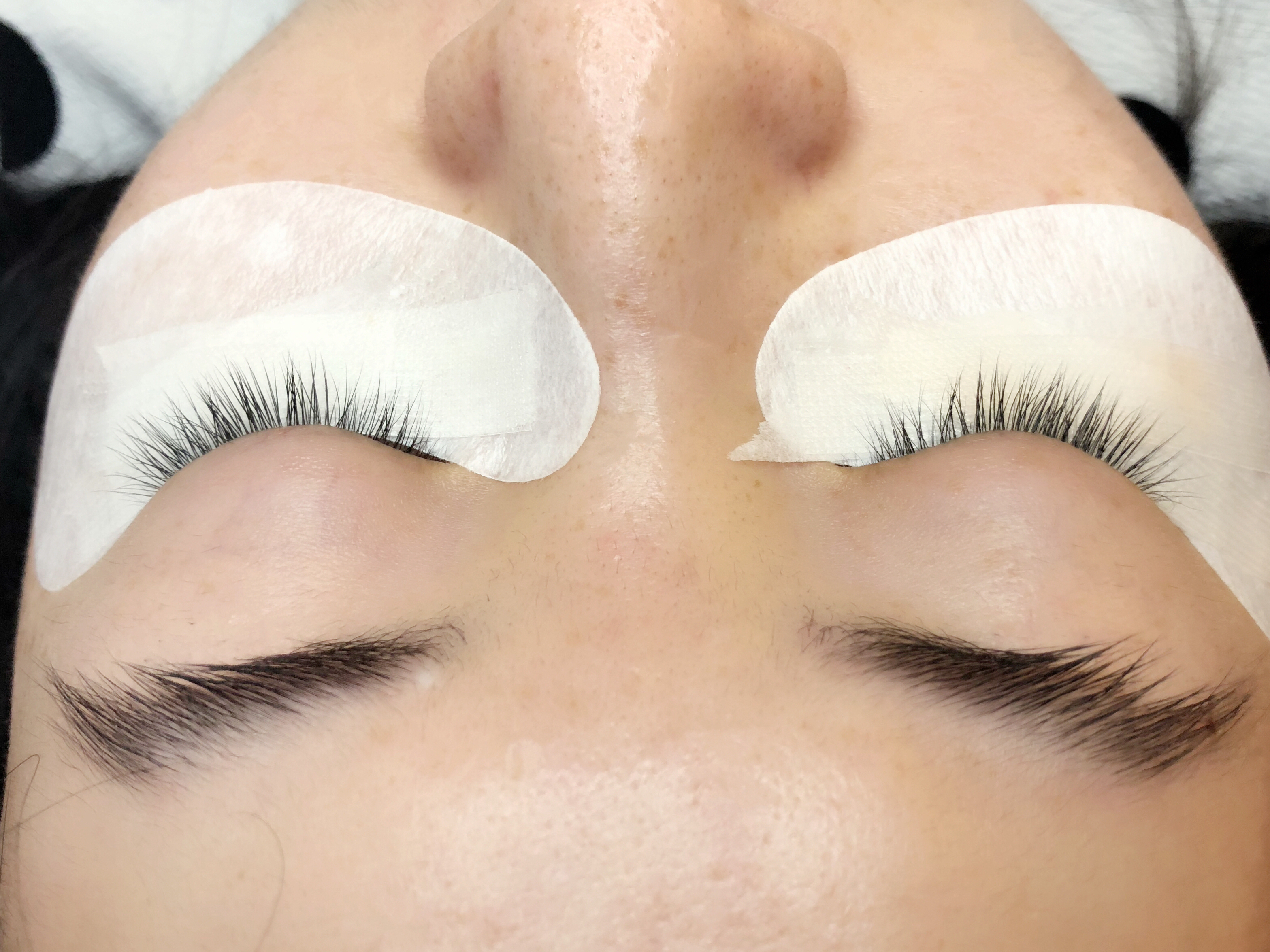 before photos of eyelash extensions