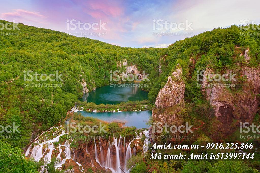 Tranh phong cảnh thác nước đẹp ở nước ngoài