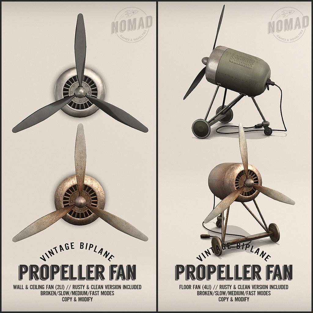 NOMAD // Propeller Fans - TeleportHub.com Live!