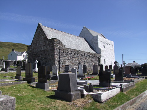 Clare Island, County Mayo, Cistercian Monastery, exterior from SW