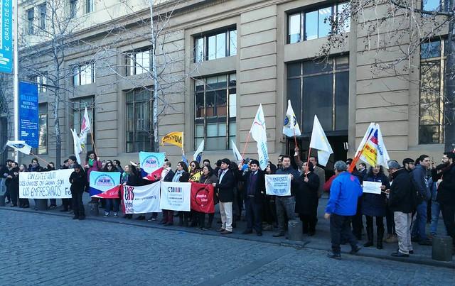 Protesta en rechazo al Estatuto Laboral para Jóvenez (30-07-2018)