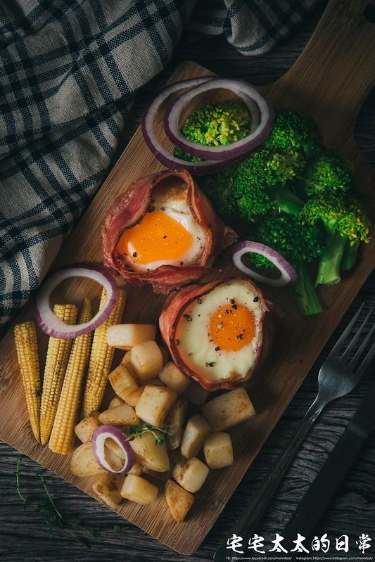 培根捲起士蛋,培根蛋杯,料理食譜 @陳小可的吃喝玩樂