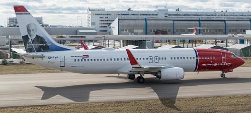 Norwegian plane on Arlanda Airport, Sigtuna (Stockholm)