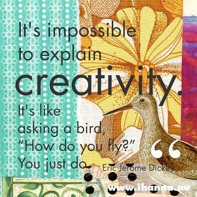 It's impossible to explain creativity... #quote