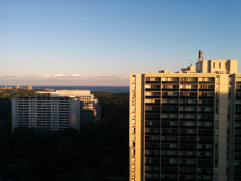 Skyline, west to east (2) #toronto #mississauga #skyline #highparknorth #lakeontario #sky #blue