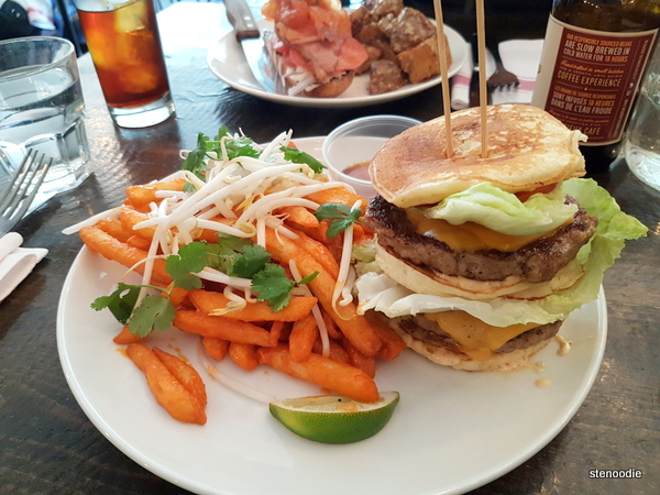 Double Pancake Pork Burger