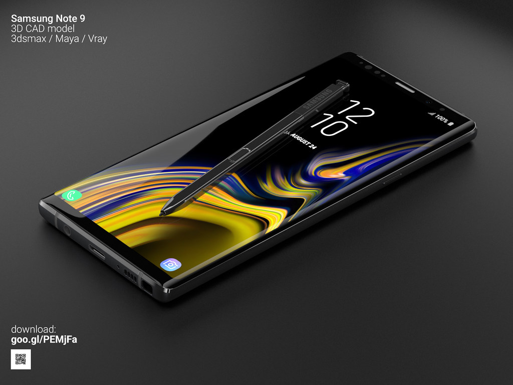 Samsung Note 9 - 3D model