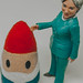 Hillary figure and gnome by Jeffrey