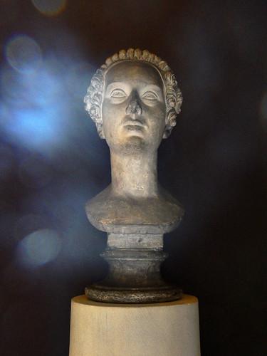 A marble bust at Thorvaldsen Museum in Copenhagen, Denmark