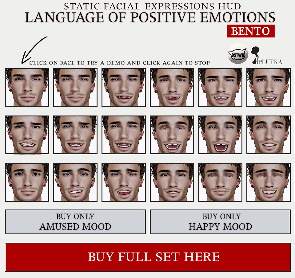 SEmotion Male Bento Facial Expression HUDs