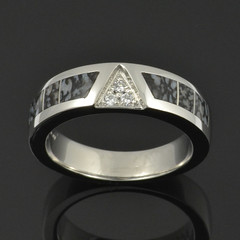 Platinum Dinosaur Bone Ring