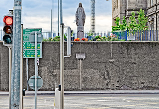 A MARIAN STATUE DATING FROM 1953 [BROADSTONE - AT THE LUAS TRAM STOP]-142775
