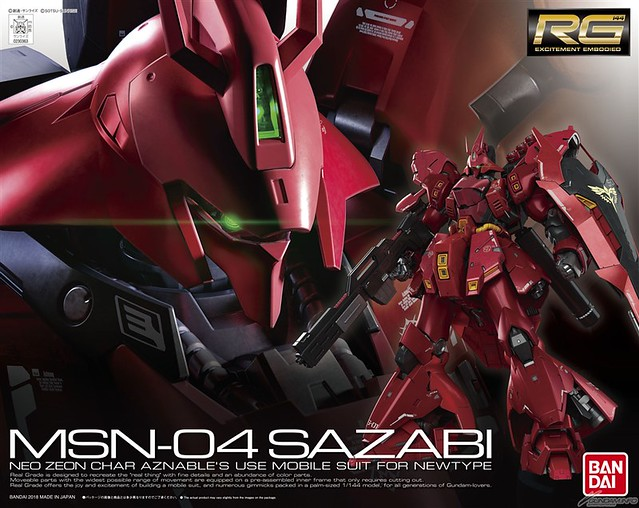 【更新官圖】史上最大級!RG 1/144《機動戰士鋼彈 逆襲的夏亞》MSN-04 沙薩比(サザビー)