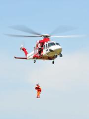 Rescue hoist demonstration