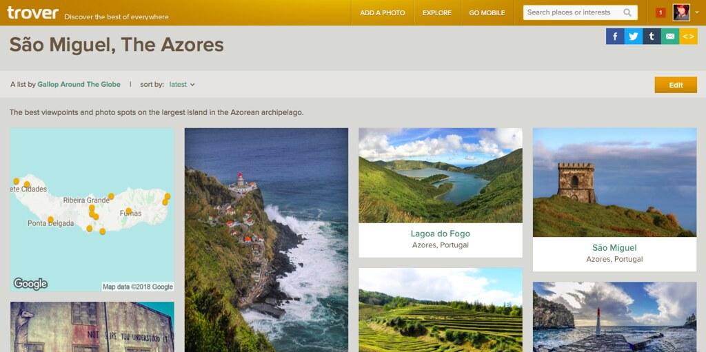 São Miguel, The Azores - Trover list