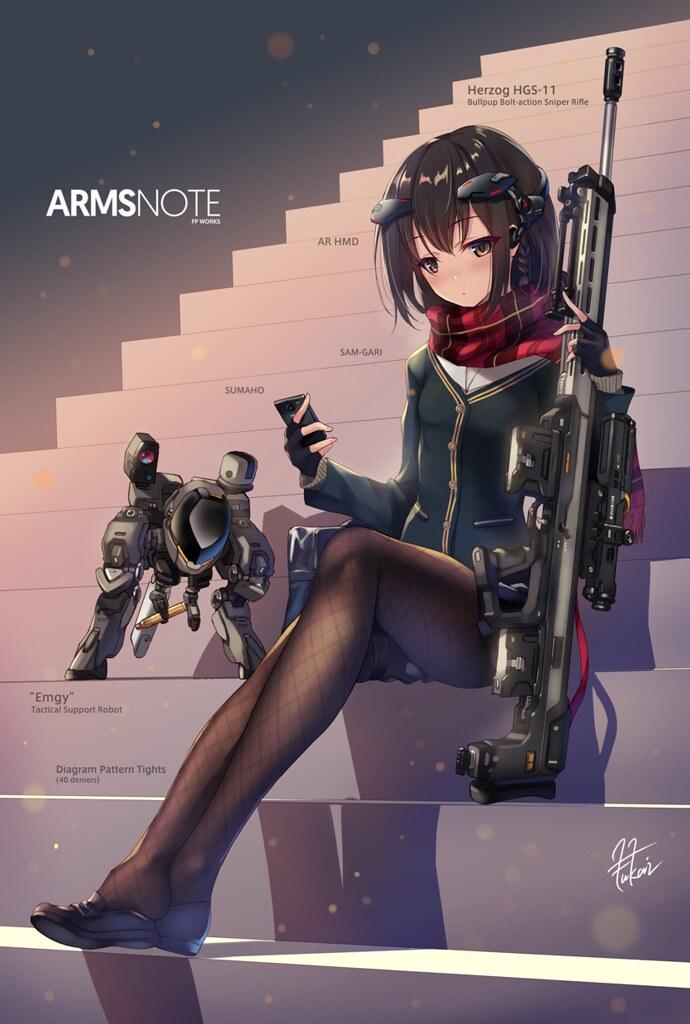 武裝×女高中生×figma 第三彈!《ARMS NOTE》長射程女高中生(ロングレンジ・ジョシコウセイ)