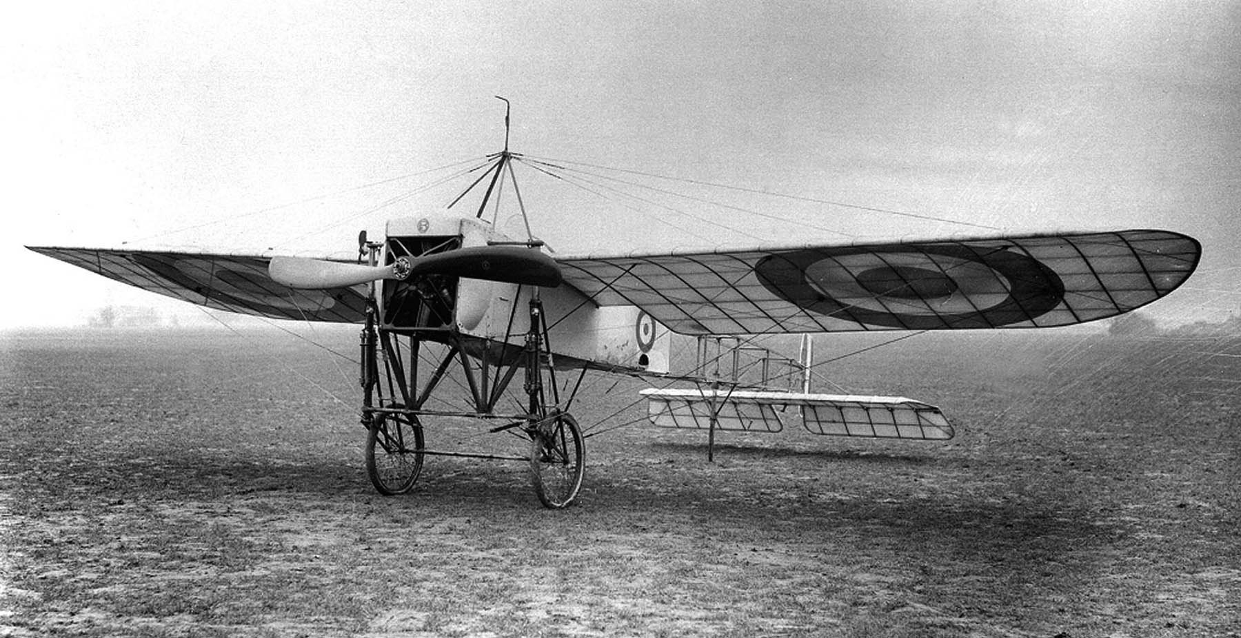 Blériot XI with Royal Flying Corps (UK) markings during World War I.
