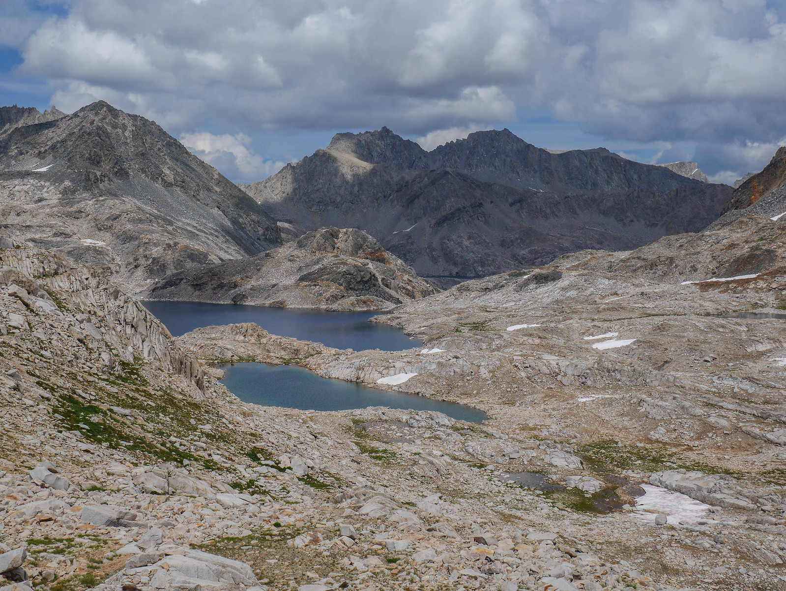 Helen Lake and tarns south of Muir Pass