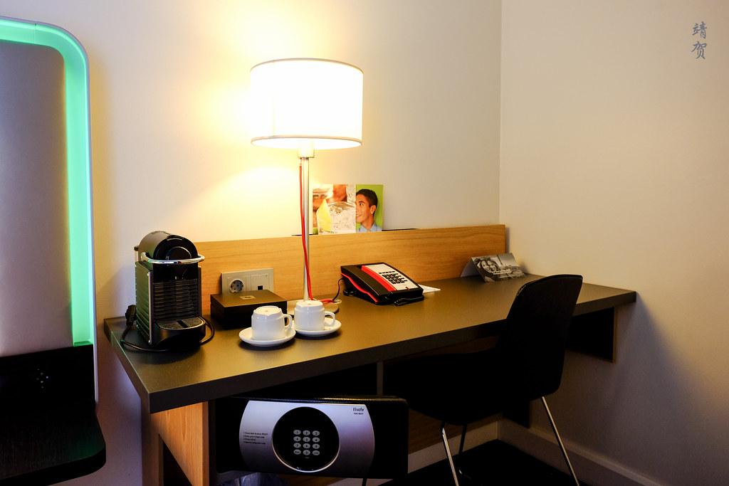Work desk with Nespresso