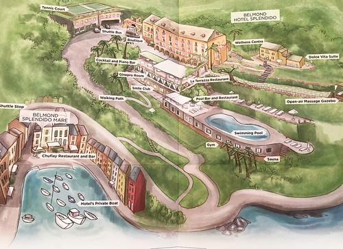Belmond Splendido Map.  Portofino