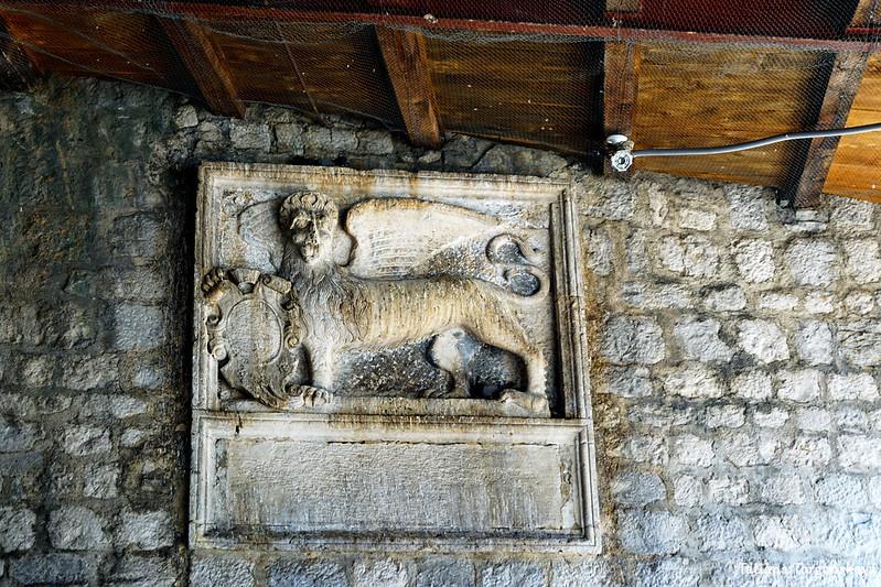 Рельеф со львом Св. Марко на бастионе Корнер