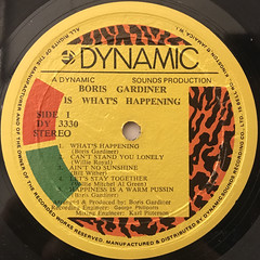 THE BORIS GARDINER HAPPENING:IS WHAT'S HAPPENING(LABEL SIDE-A)