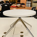 Chrome and white circular coffee table E45
