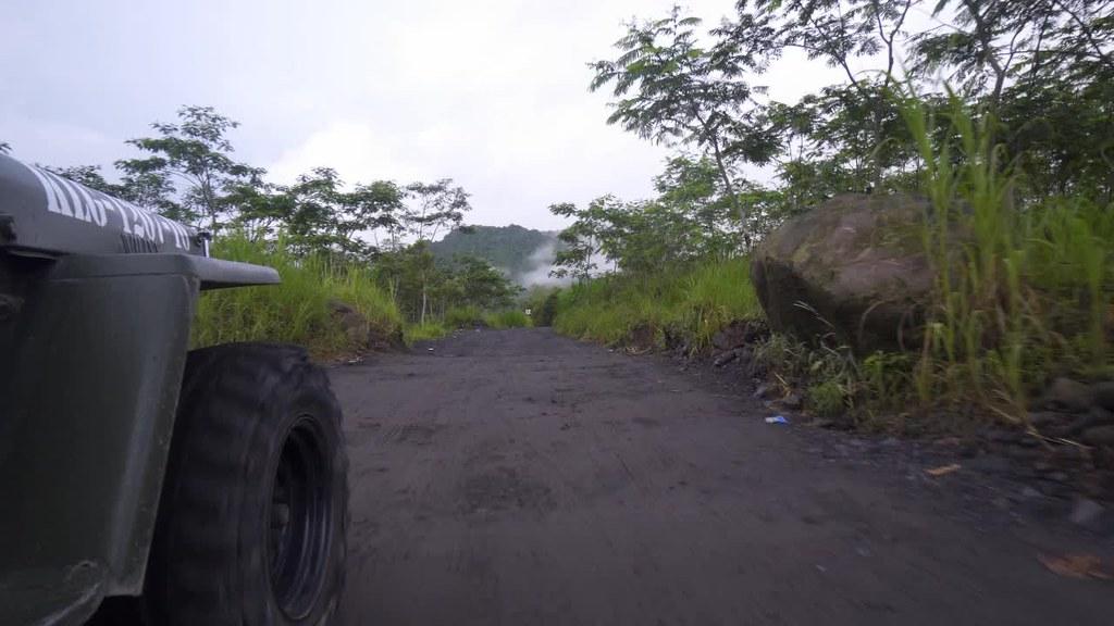 Riding a Jeep in Mt. Merapi, Jogja