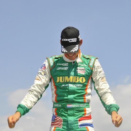 Rinus Veekay, winner, race #2, Pro Mazda