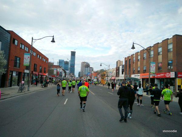 Running on Yonge Street