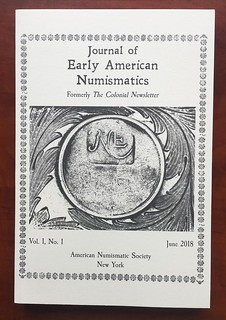 Journal of Early American Numismatics v1n1 cover